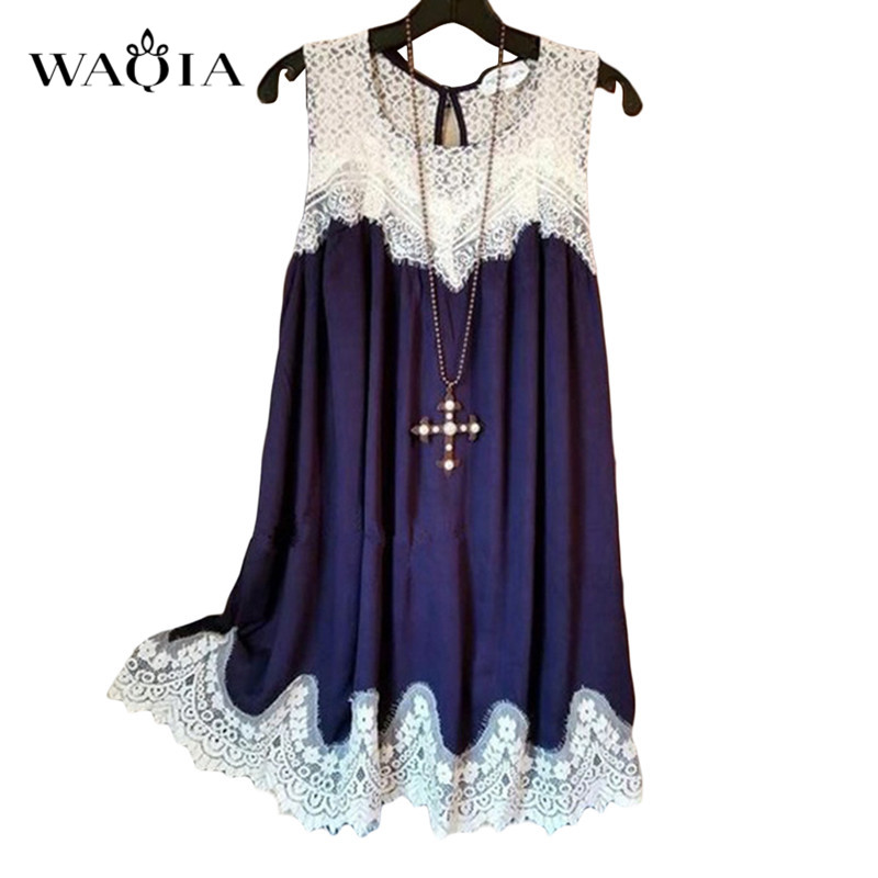 289bc2764e89 WAQIA Womens Plus Size 5XL Vestidos Lace Dress Elegant Women Short Prom  Office Slim Party Dresses Summer 2018 Casual Beach Dress-in Dresses from ...
