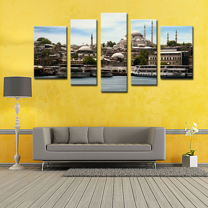 5 Picture Combination Giclee Paintings Canvas Prints Wall Art ...