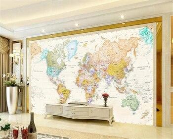 Beibehang 3d wallpaper custom mural room world map painting wall modern decoration photo murals