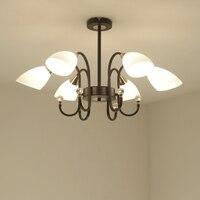 New Chandelier 110V220V E14 base type American country bedroom Chandelier living room dining room ceiling lamp