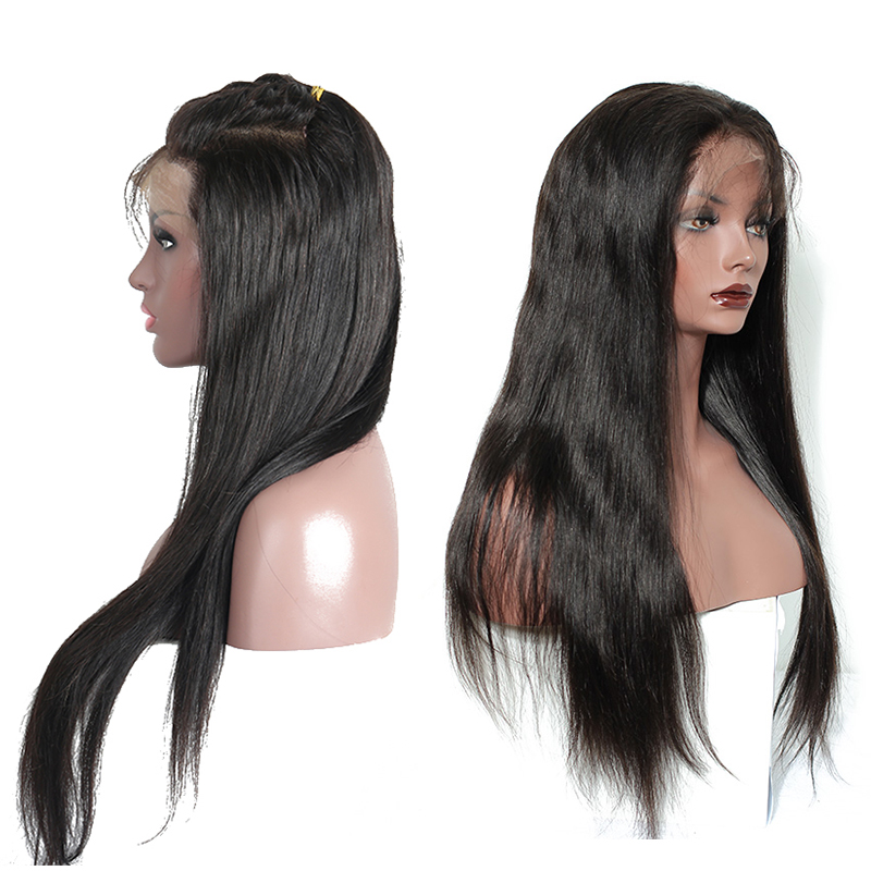 250 Density 13x4 Lace Front Human Hair Wigs Pre Plucked Brazilian Straight Lace Front Wig With Baby Hair Remy You May Hair