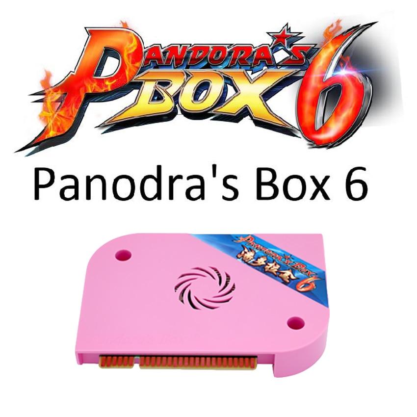Jamma Version Pandora Box 6 HD 1300 in 1 Multi Arcade Board support HDMI/VGA/CGA Pandora 5 Arcade Machine Cabinet Can add games цена