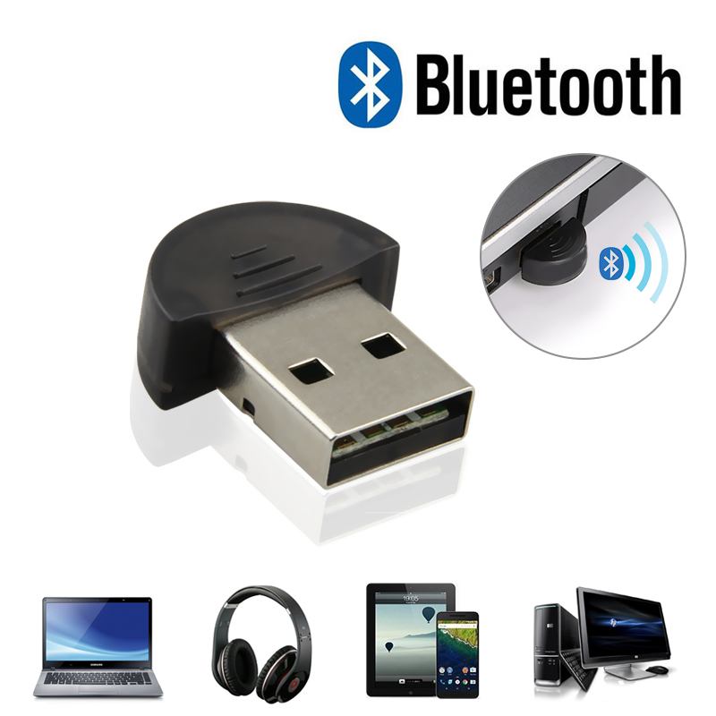 Bluetooth Computer Adapter Mini Wireless USB Bluetooth Dongle V2.0 EDR 100m Dual Mode For Laptop Win7 /8/XP For Computer 2017 riser adapter new mini usb bluetooth dongle adapter for laptop pc for win xp for win7 8 foriphone 4gs 5gs drop shipping 1pc