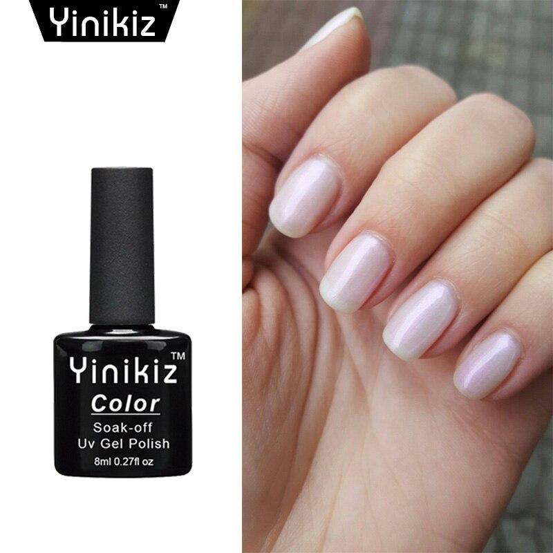 Nude Beige Cream Pink Milky Color Gel Nail Polish Gelish