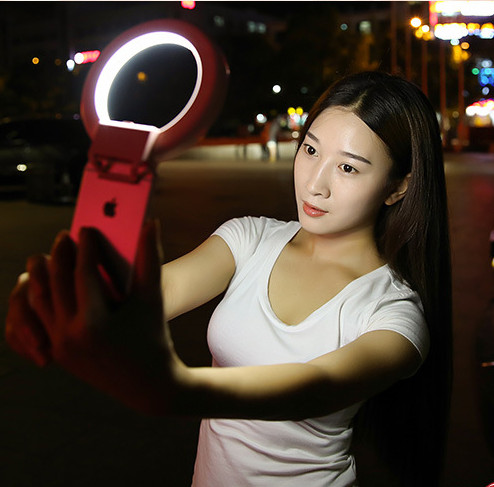 2016 Fashion Selfie Ring <font><b>LED</b></font> Light <font><b>case</b></font> Phone Light Beauty Selfie Ring Flash Fill light for <font><b>iPhone</b></font> 5 6 6s plus Samsung s6 s7 edg