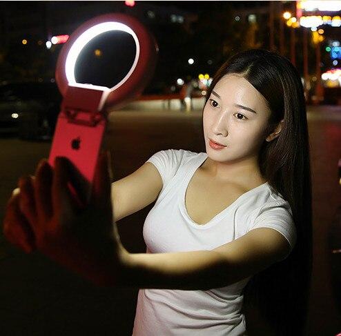 imágenes para 2016 de La Moda Anillo Anillo de Luz LED caja Ligera Teléfono Belleza Autofoto Autofoto luz de Flash de Relleno para el iphone 5 6 6 s plus Samsung s6 s7 edg