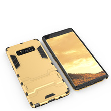 For Samsung Galaxy Note 8 Case Hybrid TPU PC Iron Man Armor Shield Case for Samsung Note8 Stand Holder Back Cover Case Free Pen