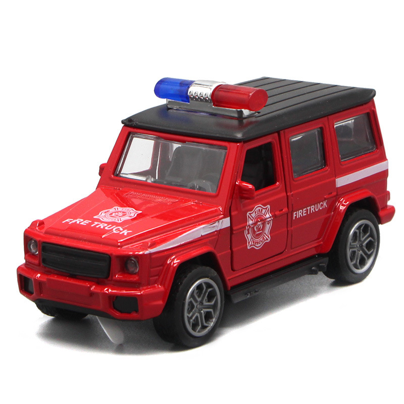 1:36 Scale Fire Truck Police Car Metal Alloy Car Pull Back Diecast Model Brinquedos Vehicle Toys For Children HotWheelsing