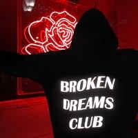 Broken Dreams Club Reflective Hoodie Black Tumblr Inspired Aesthetic Pastel Grunge Aesthetics Unisex tumblr black hoody