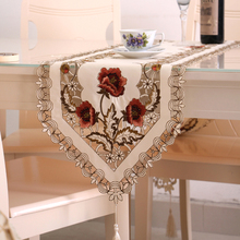 High-end embroidered openwork table runners coffee TV cabinet flag cloth chair cover cushion towel long round placemat teasidee