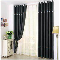 Pure Linen Curtains Simple Home Perforated Curtain Decoration Textile Products Living Room Bedroom French Curtain