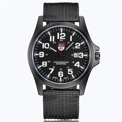 SOKI Sports Watches Man 2019 Fashion Casual Man Watch Luxury Men's Wristwatch Relogio Masculino Quartz Military Watch For Men