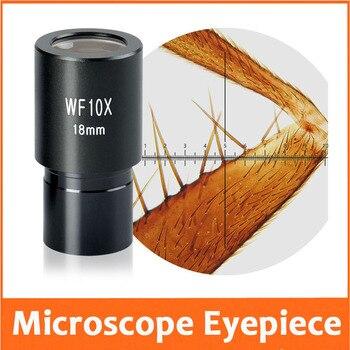 1 unidad WF10X/18mm gran angular laboratorio estudiante escuela microscopio biológico lente retícula 23,2mm con regla graduada 0,1mm