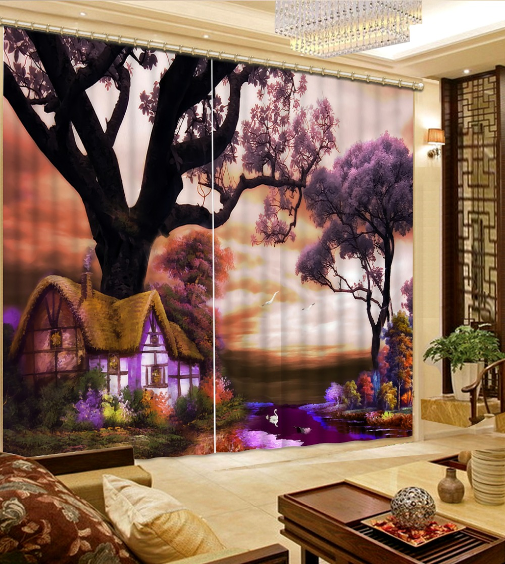 dream forest curtains Luxury Blackout 3D Window Curtains For Living Room Bedroomdream forest curtains Luxury Blackout 3D Window Curtains For Living Room Bedroom