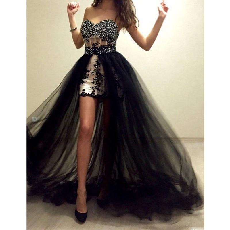 Black Wedding Dress With Detachable Train: Black Detachable Tulle Overskirt Detachable Skirt Bridal