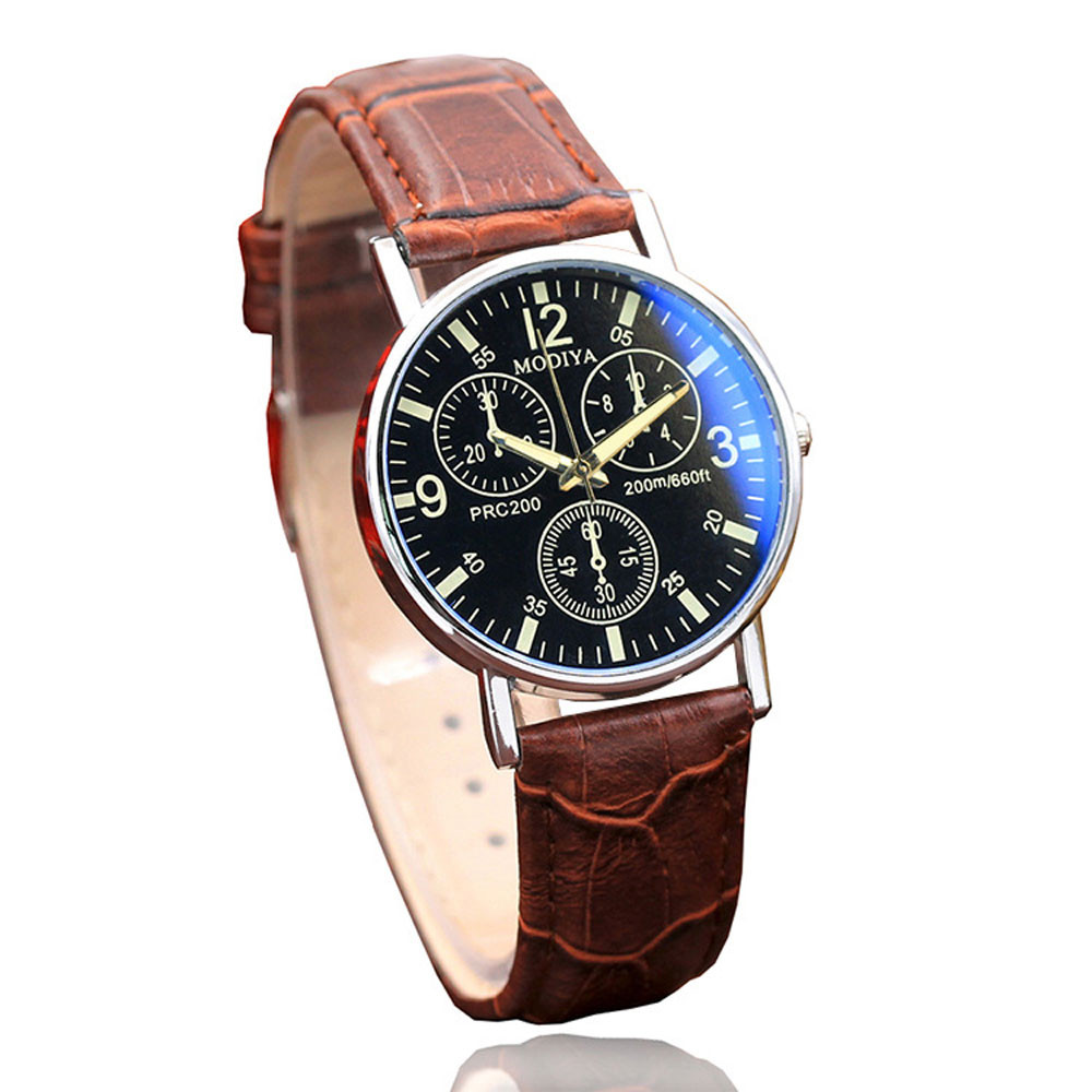 Watches Men relojes Luxury Fashion Faux Leather Quartz Analog Watch Business Watches Male Wristwatch relogio masculino Gift