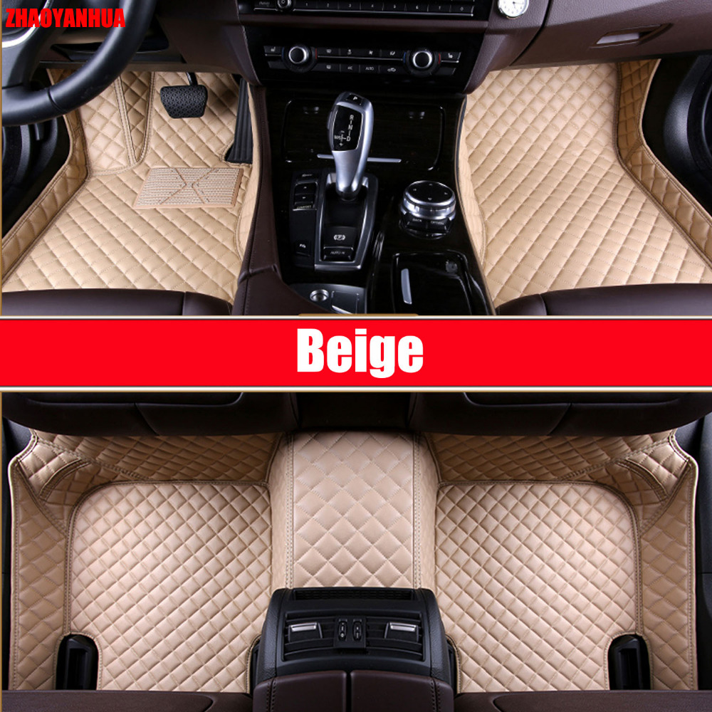 zhaoyanhua car floor mats for toyota camry corolla prius prado highlander sienna zelas all weather car styling liners