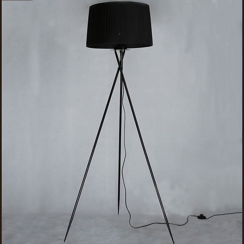 New Modern Minimalist 3 Leg Tripod Floor Light Fabric