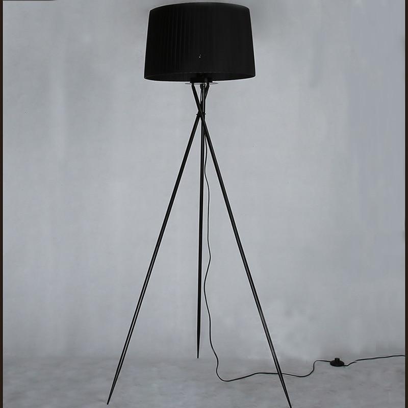 New modern minimalist 3 leg tripod floor light fabric for Cheap tripod lamp