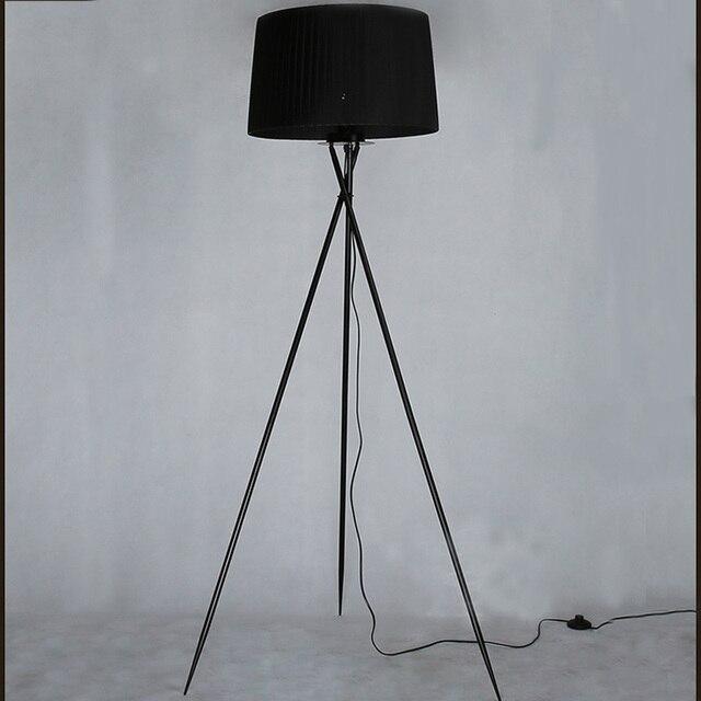 New Modern Minimalist 3 Leg Tripod Floor Light Fabric Shade Creative Standing Lamp For Living