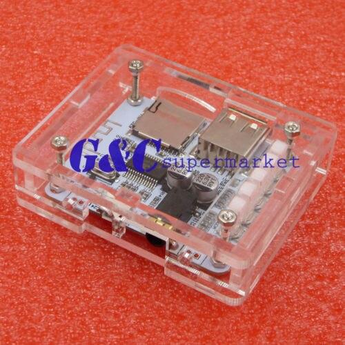 Acrylic Case for USB 5V Bluetooth 2.1 Audio Receiver Board w/TF Card Slot