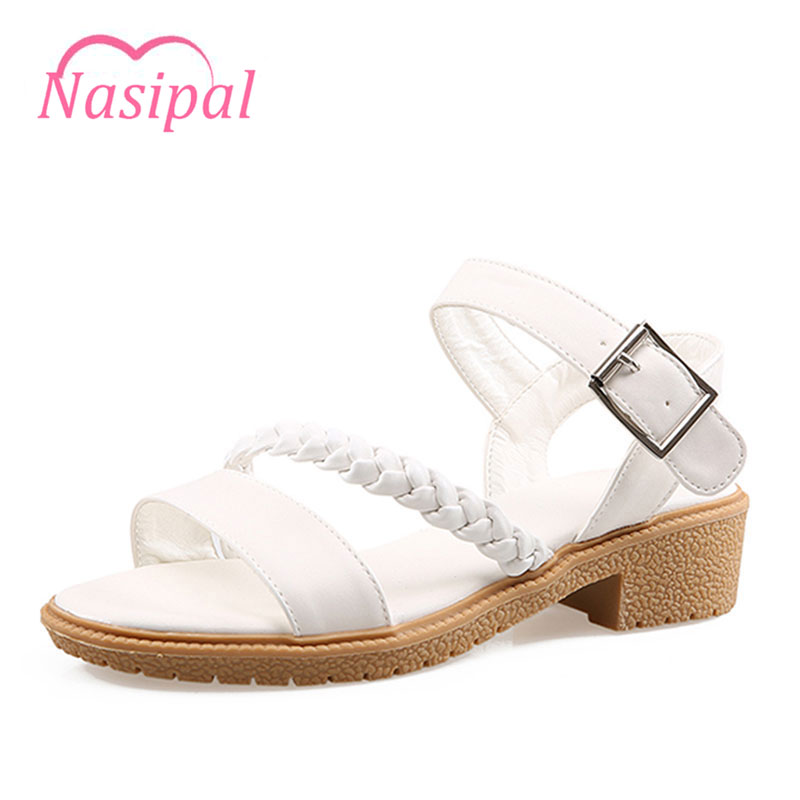 Nasipal Summer Women Sandals Open Toe Women's Sandles Thick Heel Korean Style Gladiator Casual Shoes Platform Wedge Shoes TR270 fish mouth gladiator sandals women platform wedges shoes 2017 summer beaches ladies shoes korean style creepers women s sandles