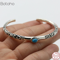 Arabesque Pattern Bangles 100% Real 925 Sterling Silver Bracelet Bangle for Men or Women Fine Jewelry Adjustable bracelet 2019