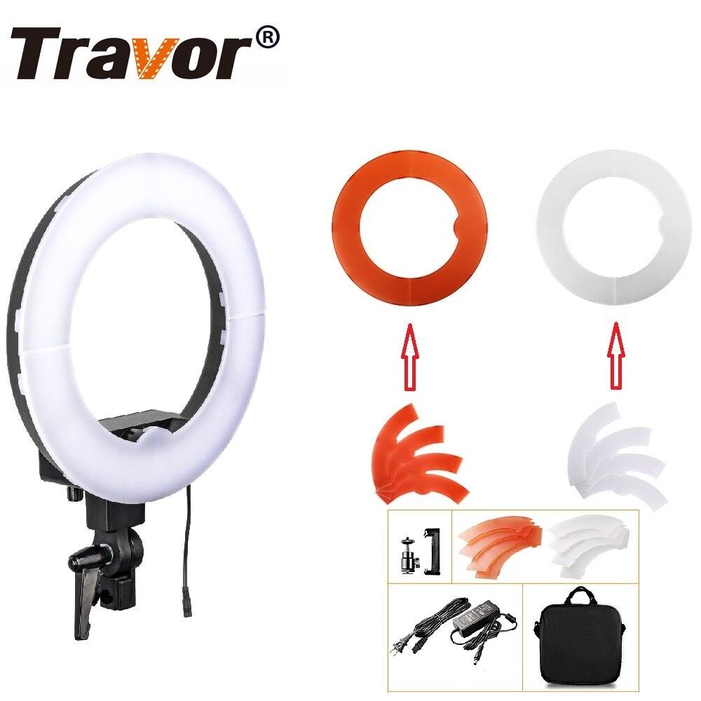 Lampe annulaire Travor LED 12 pouces Dimmable bicolore 3200 K-5500 K pour Studio photographie éclairage Studio caméra Photo