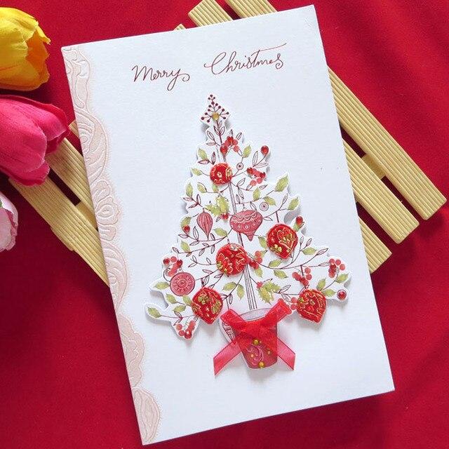 8 pcs creative handmade cloth merry christmas high quality cards 8 pcs creative handmade cloth merry christmas high quality cards laser cut up paper high reheart Gallery