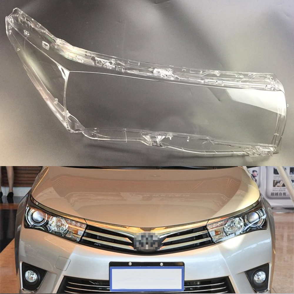 For Toyota Corolla 2014 2015 2016 2017 Transparent Car Headlight Headlamp Clear Lens Auto Shell Cover
