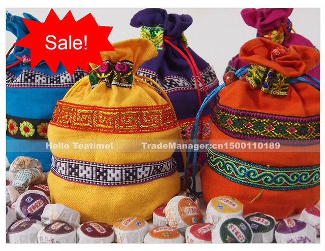 On sale+Free Gift!! 10 Kinds Flavor aged Mini Yunnan Pu er(Pu'erh,puer) bowl tuo tea,weight loss,vintage Bag packing