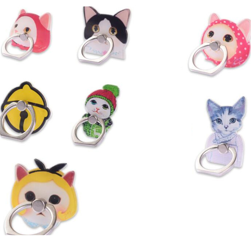 360 Degree Finger Ring Smartphone Fashion Cat Kitty Stand Holder Mobile Phone Holder Stand For IPhone Xiaomi Huawei All Phone