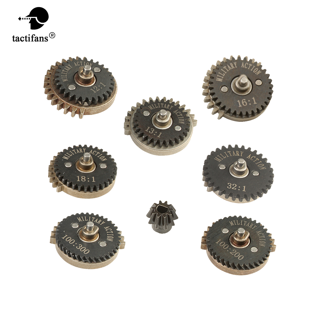 Paintabll Hunting Accessories High Torque Speed Original Motor Pinion Gears Set For Ver.2 / 3 AEG 12:1 13:1 16:1 18:1 32:1