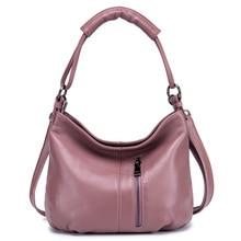 купить Genuine Leather Women Handbag High Quality Solid Casual Women Shoulder Bags Brand Designer Women Leather Crossbody Messenger Bag по цене 2546.63 рублей