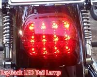 Harley Dyna Fat Boy FLSTF Night Train FXSTB Softail Sportster Road King Elctra Glide Motorcycle LED Brake tail light