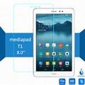 Para huawei mediapad t1 8.0 templado protector de pantalla de 2.5 9 h protector de seguridad en 3g honor s8-701u pad pro t1-821l T1-823L