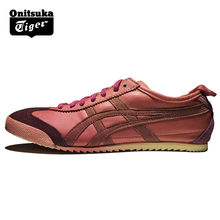 692407911da58 Original ONITSUKA TIGER MEXICO 66 purple Shoes Men Women Sheepskin Leather  Unisex Low Sneakers Badminton shoes TH9J4L-3319