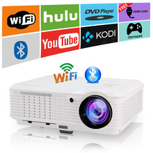 CAIWEI HD LED Projector Android Home Theater Proyector Bluetooth WIFI Beamer Wireless Sync Online Movies Game HDMI USB PC