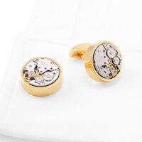 Luxus Französisch Hemd Manschettenknöpfe herren Uhrwerk Ärmel nagel Werbegeschenke Hemd Mechanische Manschetten nägel Schmuck Arm Tasten