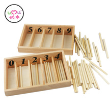 Montessori Math Toys Mathematics Montessori Materials Educational Wooden Spindle Box Early Learning Training Toy UB0663H