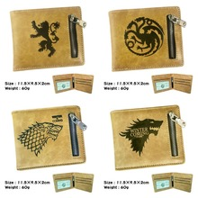 Game of Thrones Cartoon font b Anime b font Student Purse wolf head card holder with