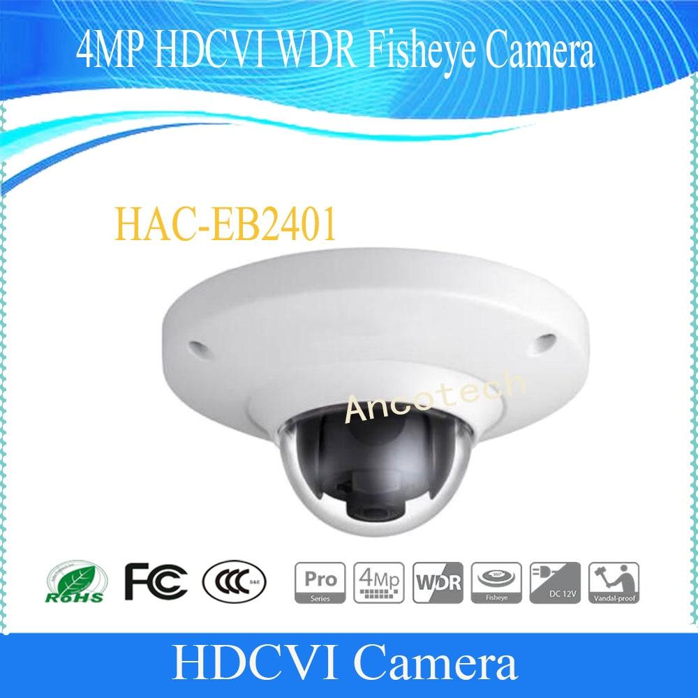 Free Shipping DAHUA Surveillance Camera 4MP HDCVI WDR Fisheye Camera IK10 Without Logo HAC EB2401