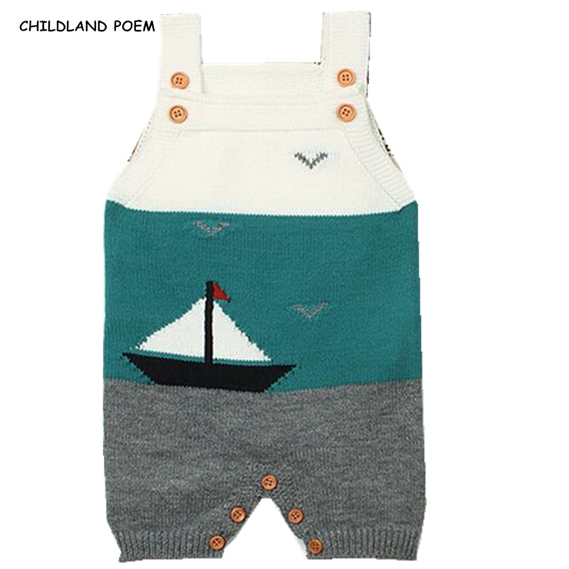 Baby Knitted Clothes Newborn Infant Baby Boys Romper Sleeveless Toddler Boys Girls One Piece Jumpsuits Outfits Kids Overalls