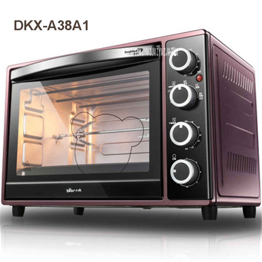 цена на 38L Oven Mini High Quality Electric Oven For Pizza Smokehouse Convection 1600W DKX-A38A1 Household Appliances Stainless steel
