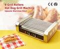 Hot Dog électrique 9-rouleau Machine à griller saucisse rôtissoire Grill avec neuf rouleaux 1800 W à faible bruit CE 220 V ~ 240 V