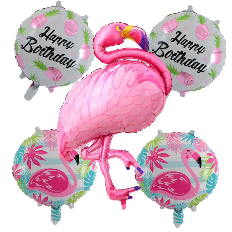 Dog Toys Sweet-Tempered Cute 5pcs/lot Flamingo Foil Balloons Children Classic Toys Inflatable Helium Balloon Birthday Wedding Balls Party Supplies