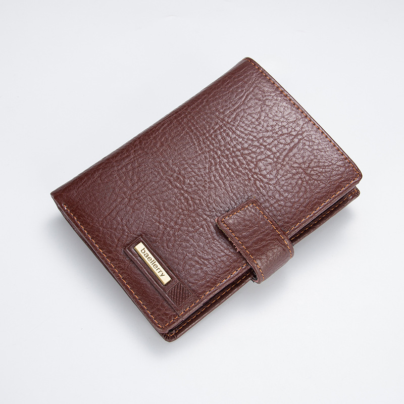 2018 Wallet PU Leather Stitch Coin Pocket short Male Clutch Bags Man Purse Brand Quality Hasp Casual Photo Bit Drop Shipping