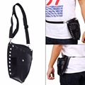 Professional PU Leather Rivet Hair Scissor Bag Barber Salon Holster Pouch Holder Waist Shoulder Belt Hairdressing Tools Kit