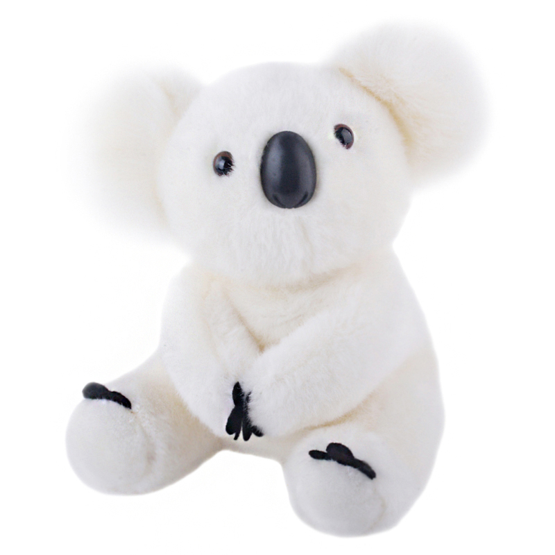 White Koalas Bear Plush Doll Stuffed Cartoon Toy Soft Pillow for Kids Boy and Girl Birthday Gift 8*11 New Arrival cute cartoon ladybird plush toy doll soft throw pillow toy birthday gift h2813
