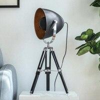 Abajur Nordic Modern Three Legged Floor Landing Industrial Lamp Retro Office Study Desk Lights Deco LED Table Lamp for Bedroom